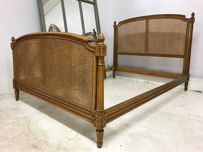 Vintage Cane French Double Bed - a57