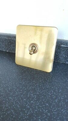 Crabtree Vintage Brass Industrial Light Switch 0ne Gang Salvaged Reclaimed Retro