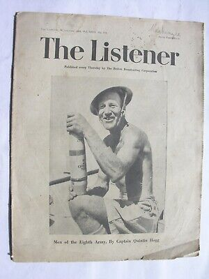 THE LISTENER Jan 14 1943 Eighth Army Williams-Ellis New Guinea Stanley Maxted