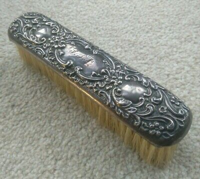 Vintage Silver Backed Clothes Brush - W.G. Keight Birmingham 1899-1907