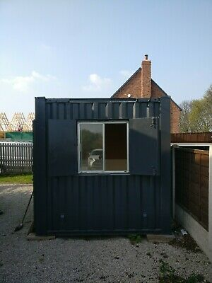10 X 8 ft Anti Vandal Shipping Container Office Insulated + Electrics