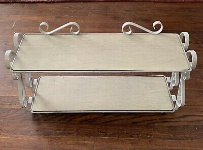 Antique Wrought Iron Display Shelves