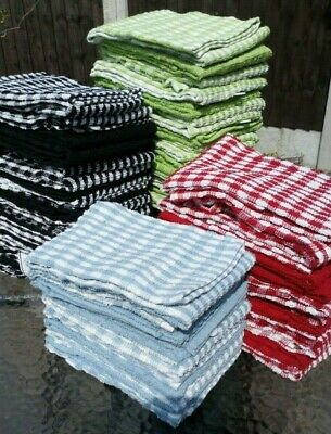 3 Large Terry Tea towels cotton dishcloths cleaning cloth duster microfibre