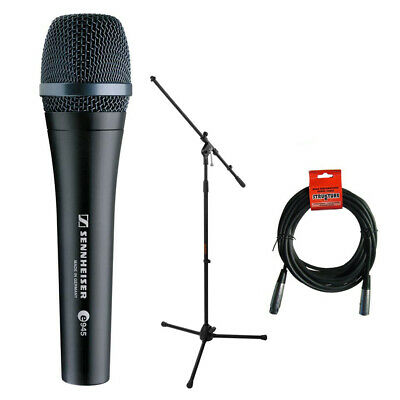 Sennheiser e945 Dynamic Vocal Microphone w/ Mic Stand & XLR Cable