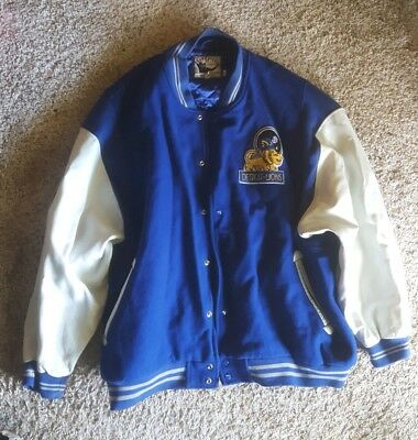 Top DETROIT LIONS MITCHELL & Ness 1953 Authentic Vintage Wool Leather  free shipping