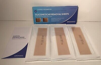 Aroamas Professional Silicone Scar Removal Sheets for Scars & C-Section 3 Sheets