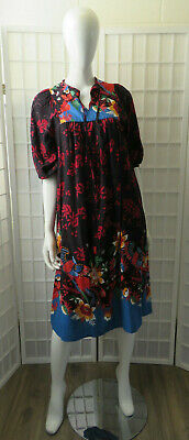 """Vintage Boho """"Robbie Bee"""" Peasant Style Cotton / Rayon Blend Colorful Dress."""