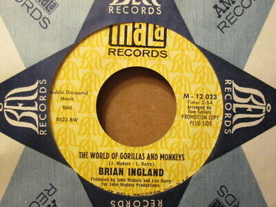 BRIAN INGLAND – World of Gorillas and Monkeys - MALA 12,023 - DJ copy 45rpm