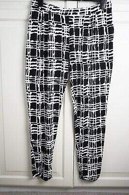 Asos Maternity Jersey Peg Trouser in Black and White Print Size 10