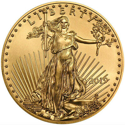 2019 - $5 1/10oz Gold American Eagle BU UNC Uncirculated -Beautiful Gold Coin