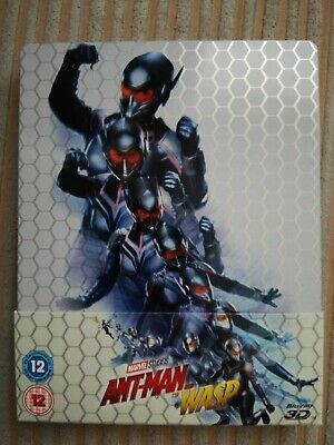 Mint Blu ray Ant man and the Wasp steelbook 2D&3D versions