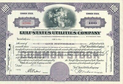 Gulf States Utilities Company 1951, 100 Shares .