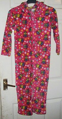Minions Girls All In One Nightwear Age 6-7 Years