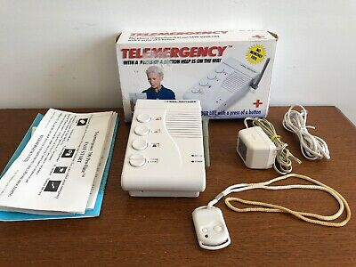 Telemergency Pro Emergency Alert System with Help Pendant for Elderly & Disabled