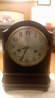 h.a.c mahogany mantle clock