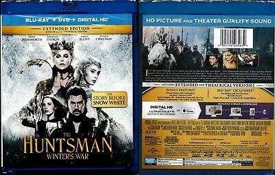 The Huntsman: Winters War (Blu-ray DVD Digital 2016) Chris Hemsworth Emily Blunt