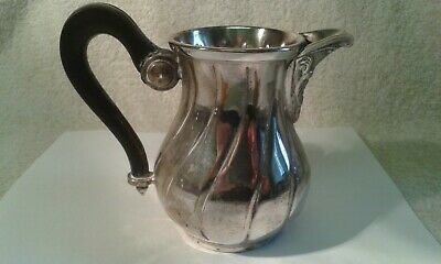 Vintage Silver Plated Milk Jug with Ebonised Handle - 9.5 cms. high - 220 gms.