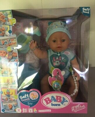 Baby Born 824375 Soft Touch - Boy Interactive Function Doll