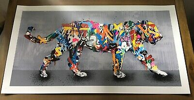 Martin Whatson TIGER Signed x/195 Sold Out Print RARE with COA kaws banksy obey