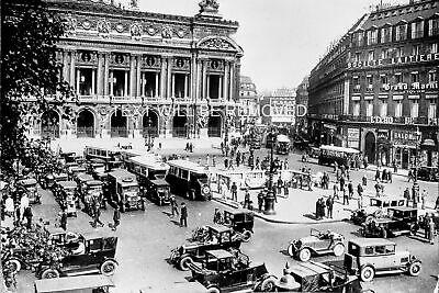 PARIS L'ECHO SQUARE TAXI OLD CARS EARLY 1900s  786694G