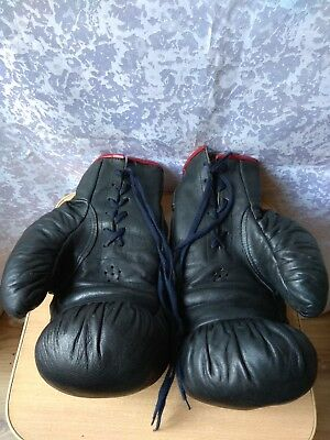 RARE Vintage Russian Soviet USSR Sport Antique boxing gloves LEATHER old