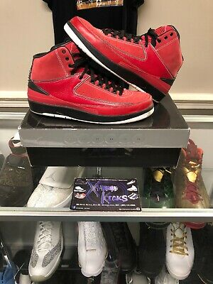 hot sale online 77103 f1e8d Air Jordan 2 II Candy Pack QF Varsity Red Bred Size 11