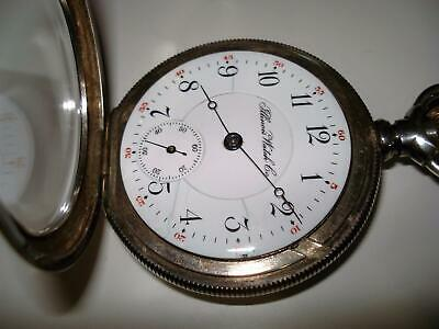 1901 Circa 18 Size Illinois Sterling Silver  Lever Set 17 Jewels  Pocket Watch