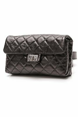 f9877a294c0c NWT CHANEL BLACK REISSUE WAIST BAG 2.55 BELT BUM Fanny Pack BLACK ...