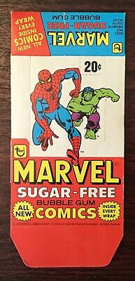 1978 Topps Marvel Sugar Free Comics near complete set and Unused Box