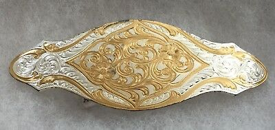 VTG Montana Silversmith Sterling Silver Bronze Ladies Floral Fashion Belt Buckle