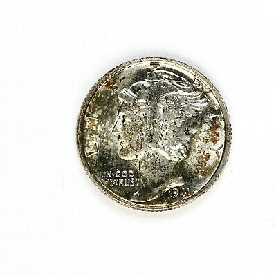 Raw 1941 Mercury 10C Uncertified Ungraded US Mint 90% Silver Dime Coin
