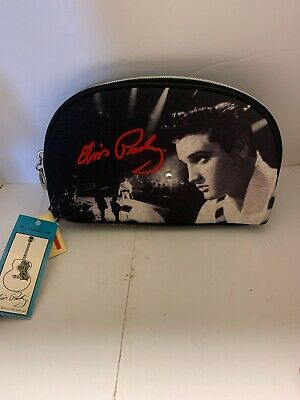 ASHLEY M ELVIS PRESLEY MAKEUP COSMETIC BAG CLUTCH PURSE New FREE SHIPPING