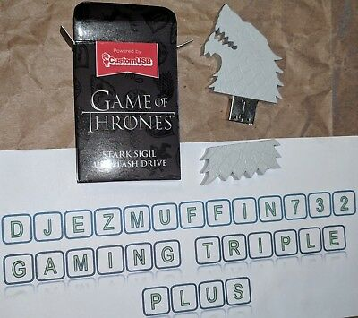 Game Of Thrones  Stark Sigil Usb 4 Gb Flash Drive (Loot Crate Exclusive)