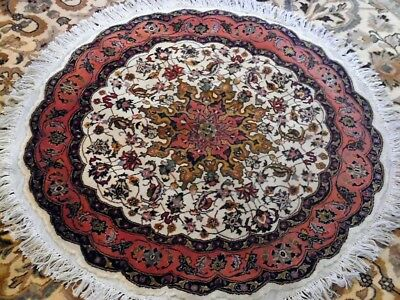 Fine Quality round Antique Wool Tabrizz Hand knotted Persian Rug Carpet Runner