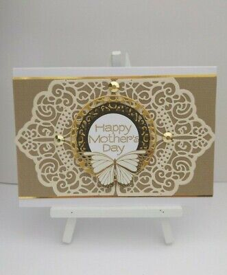 Handmade Mother's Day Card: Little bit Lacey (Brown)