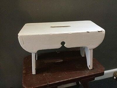 Vintage Antique Milking Footstool Country Coffee Table Magazine Cool Bedside
