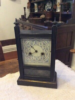 Tuetonia Clock Manufactory 19th Century Mantle Clock