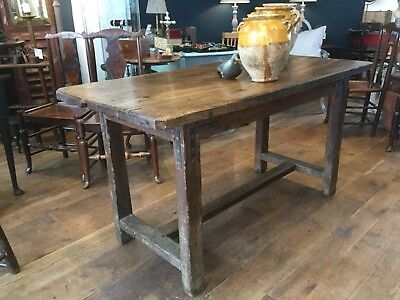 Great Solid Oak Refectory Table Prep Island Sofa Side Table Heavy Dining Table