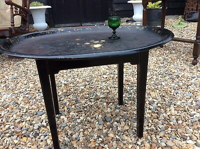 Victorian Laquer Ware Tray Table Very Stylish Antique Coffee Table Tole Ware