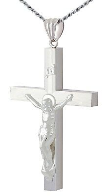 Sterling Silver Crucifix 22 inch Pendant Boxed. 9.5 Grammes