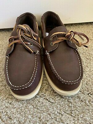 f2b8c3c31 Tommy Hilfiger Bowman 3 Dark Brown Lace Up Leather Casual Boat Shoes Mens  7.5