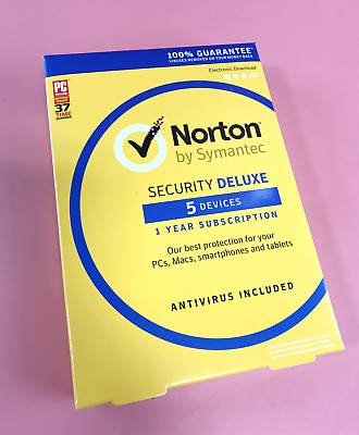 Norton by Symantec Security Deluxe 1 year for 5 Devices | New  #1124