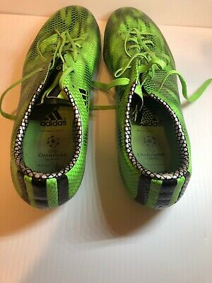 940bc646e67 Men s Adidas F50 Adizero UEFA Champions League Black Green Soccer Cleats  Size 10