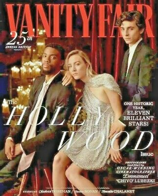 HOLLYWOOD Vanity Fair magazine 2019 CHADWICK BOSEMAN TIMOTHEE CHALAMET  SEALED