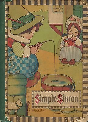 """Antique/Vintage """"Simple Simon"""" Hardcover-1920-Great  gift-100%eBay rating"""