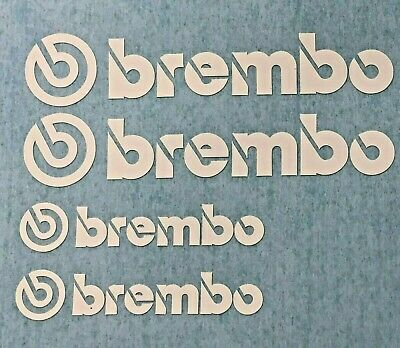 4 Brembo Brake Caliper Sticker  Vinyl decal Heat Resistant