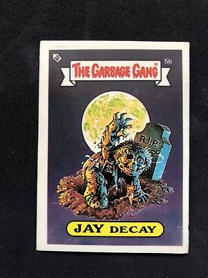 The Garbage Gang Jay Decay 5b 1985 Card Sticker Vintage