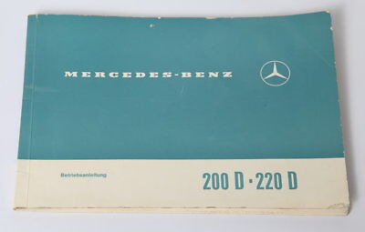 Mercedes 200D 220D Advert Depliant Collector Vintage Rare German