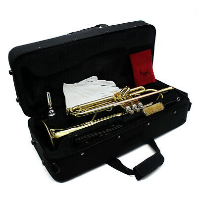 Trumpet Bb B Flat Brass Muisc Instrument with Case For Children I7N9