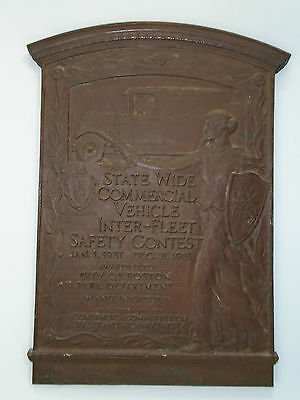 Boston State Wide Commercial Vehicle Inter-Fleet Safety Contest 1931 Bronze